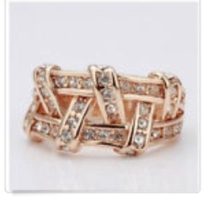 New Gold Plated ring size 8